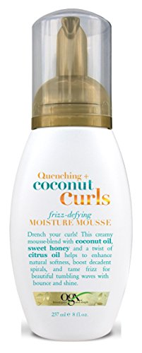 (Ogx Coconut Curls Moisture Mousse 8 Ounce (Frizz-Defying) (235ml) (3 Pack))