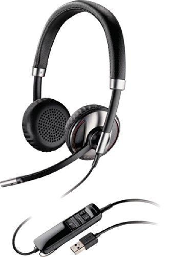 Plantronics Blackwire C720 Binaural USB Headset With Bluetooth For Softphone, PC, Laptop, Mac or Mobile Phone (Renewed)