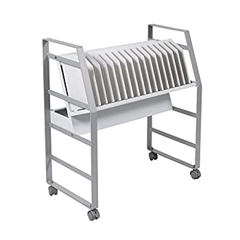 Luxor Furniture 16 Tablet/Chromebook Open Charging Cart with 4 casters