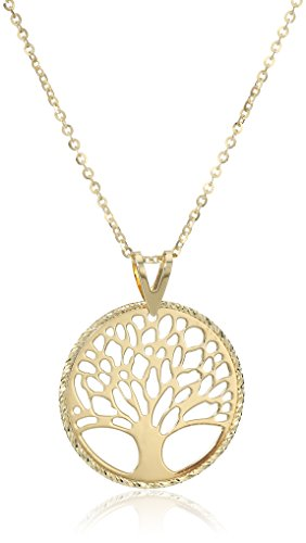 10k Yellow Gold Tree of Life Pendant Necklace, 18'' by Amazon Collection