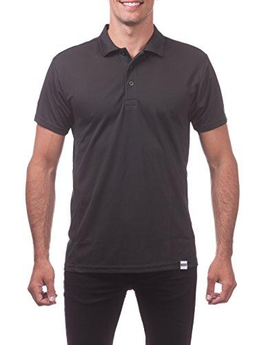 (Pro Club Men's Performance DryPro Short Sleeve Polo Shirt, Black, 4X-Large)
