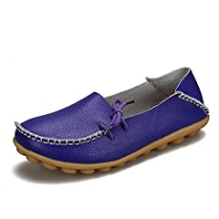 ce62e146792 Purple womans casual leather loafers cowhide - Casual Women s Shoes