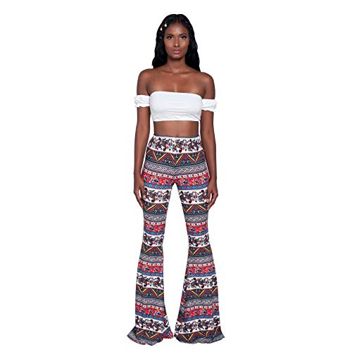 Willow S Women's Trousers High Waist Casual Tight Bell Bottom Pants Wide Leg Flared Pants