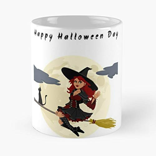 Happy Halloween Day Wishes Quotes Sms - Coffee Mug And Tea Cup Gift 11 Oz Best Mugs For Choose. -