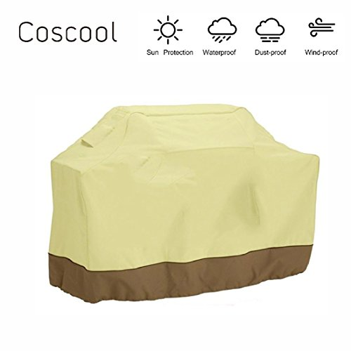 BBQ Cover,Heavy Duty UV Waterproof Gas BBQ Grill Cover,Fit for Weber(Genesis), Holland, Brinkmann, Char Broil, Kenmore