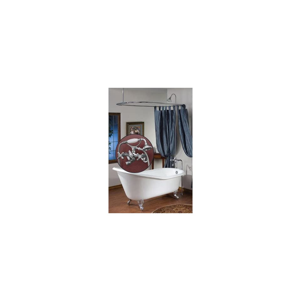 Cheviot Tub Wall Mounted Shower Enclosure 5174CH Chrome