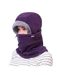 Dimples Excel Balaclava Fleece Hood Winter Warmer Ski Face Mask Men and Women