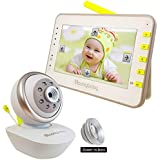 "MoonyBaby Remote PAN TILT Camera with Comforting Night Light, Digital Video Baby Monitor 4.3"" LCD Large Screen, Power Saving/VOX Night Vision, Temperature Monitoring, 2-Way Talkback"