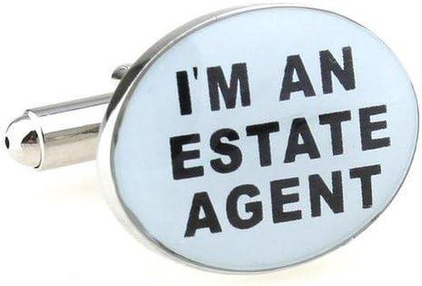 Trust Me Im An Estate Agent Cufflinks Cuff Link In Presentable Gift Box Ideal Gift For Birthday Wedding Valentine Occasion
