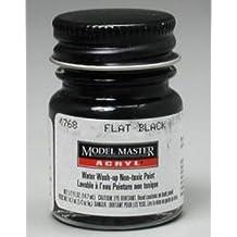 Flat Black Testors Acrylic Plastic Model Paint