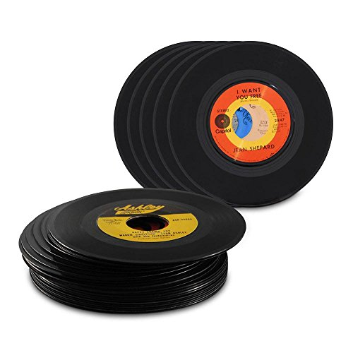 Genuine record decorations by record looks set of 25 45 for Vinyl record decoration ideas