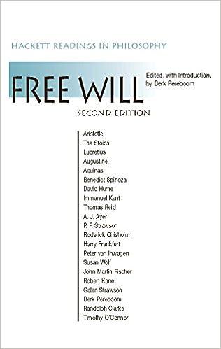 Free Will (Hackett Readings in Philosophy)