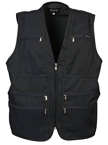 Men's 9 Pockets Work Utility Vest Military Photo Safari Travel Vest (2XL, ()