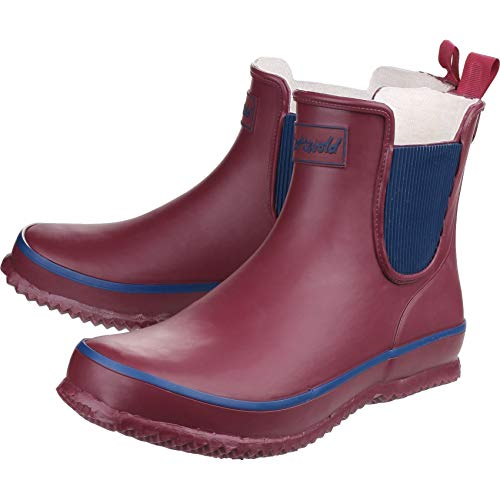 Waterproof Short Ladies red Cotswold Wellington 8 Size Shaft Bushy wine 3 Ladies Boots xExqXR7