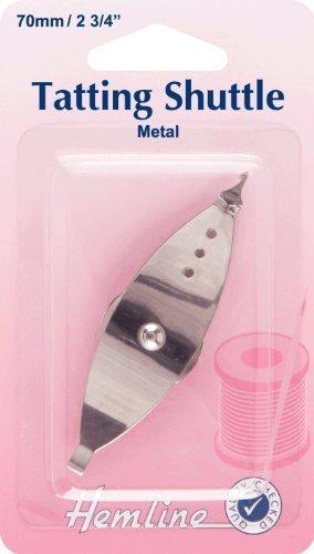 Hemline H887 | Metal Tatting/Lace Making Shuttle | 70mm by Hemline
