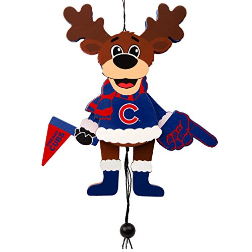 Chicago Cubs Official MLB Holiday Christmas Ornament Cheering Reindeer by Forever Collectibles 499305