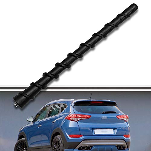 2000-2017 Compatible for Hyundai Santa FE Antenna Pole AM/FM Radio Parts Compatible with Hyundai Veracruz Tucson Accent Entourage | 7 inch - Black