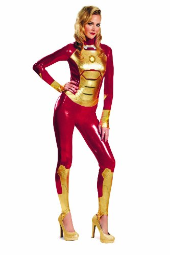 Disguise Marvel Iron Man 3 Mark 42 Lycra Sassy Womens Adult Bodysuit Costume