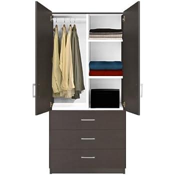 Amazon Com Alta Wardrobe Armoire 2 Drawer Wardrobe