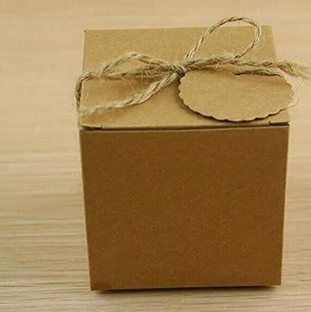 Estilo Europeo Boda Bolsa de azúcar Retro Papel Kraft Caja de Dulces de Bricolaje Envasado Caja Caja de bocadillos Favor de la Boda Suministros para Fiestas, Caqui Oscuro, 100pcs: Amazon.es: Hogar