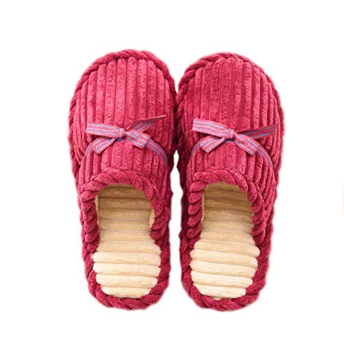 Price comparison product image Wind Goal Winter House Slippers for Men Women Soft Corduroy Indoor Outdoor Slipper
