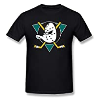 XiangXiangli Mens Mighty Ducks Of Anaheim Logo O-Neck T Shirt