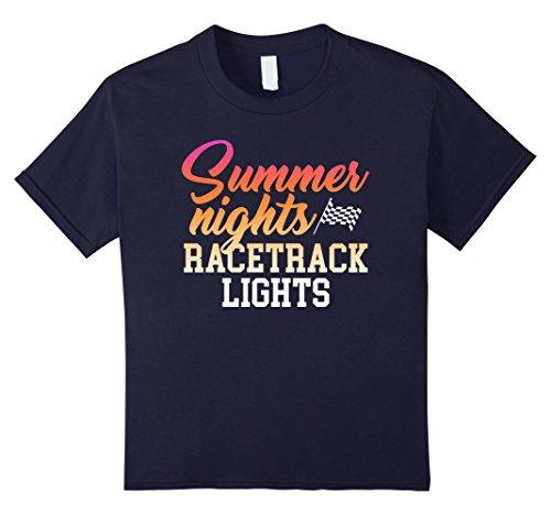 Kids Summer Nights And Racetrack Lights T-Shirt 6 Navy Racetrack Six Light