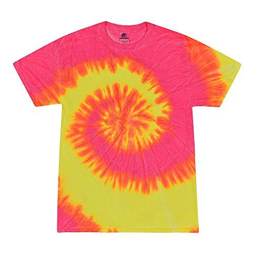 Colortone Tie Dye T-Shirt LG Flo Swirl (Swirls T-shirt Neon)