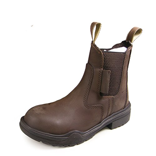 New Brown Real Leather Horse Riding Steel Toe Equestrian Showing Jodhpur Dressage Jodphur Boots All Sizes UK 3 x2bSI