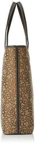 Tous Shopping Grande Kaos Mini de Jacquard - Borse a spalla Donna, Marrón (Brown), 10.5x36x33 cm (W x H L)
