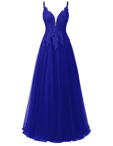Azul Mujer Para Cobalto Vestido Trapecio Mangas Sin Carnivalprom FYWwgRaqTx