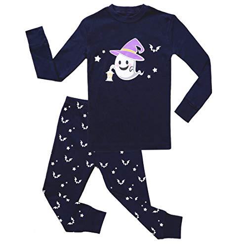 Boy Pajamas Set Long Sleeves Snug-Fit 2 Piece Kid PJS Sets 100% Cotton Toddler Sleepwear (Halloween Fairy, -