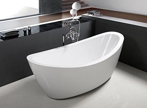 71' Freestanding Luxury Bathtub White Acrylic