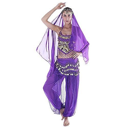 Seawhisper Jasmine Costume Adult Arabian Dancer Outfit Genie Top Pants  sc 1 st  Amazon.com & Dance Outfits and Costumes: Amazon.com