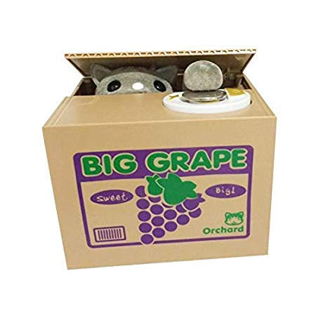 Assyrian Cute Intelligent Panda Money Box Automatic Stole Piggy Bank Pig Robotic Coin Gift A50 - Coin Bank