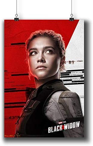 Black Widow with Gauntlet Premium Matte vertical posters