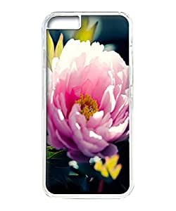 VUTTOO Iphone 6 Plus Case, Pink Flower Closeup Hard Clear Case Cover Protector for Apple Iphone 6 Plus 5.5 Inch