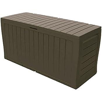 Marvel 70 Gal. Resin Deck Box in Brown