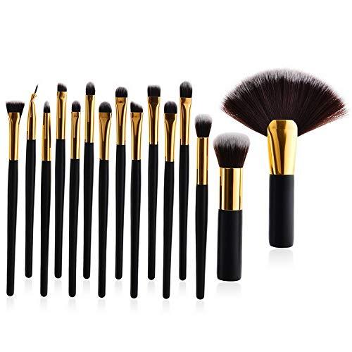 Kaputar 15Pcs Makeup Brushes Set Foundation Powder Eyeshadow Eyeliner Lip Brush Set Gift | Model MKPBRSH - 2315 | 15PCS Black #11