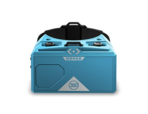 Merge AR/VR Goggles - Augmented and Virtual Reality Headset, 300+ Kid-Safe Experiences, Works with iPhone or Android (Cosmic Blue)