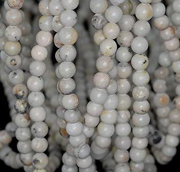 """6-8mm  white  Jade  Gemstone Loose Beads 15/"""""""