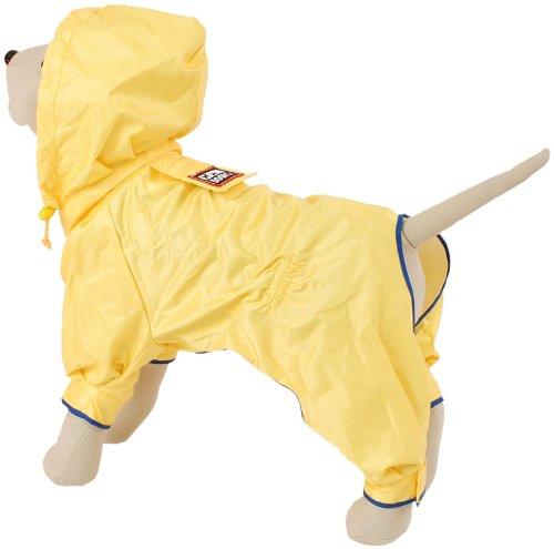 Petego Dogrich Rainforest Dog Raincoat with Detachable Fleece Undercoat, Yellow, 12 Inches - Rain Forest Dog Coat