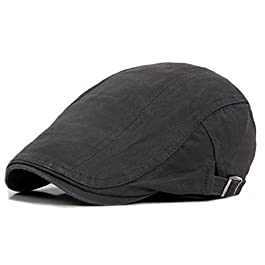 Bodhi2000® Mens Vintage Cotton Flat Cap Newsboy Ivy Cabbie Driving Hat