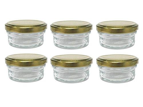 amazon com nakpunar 6 pcs 2 oz mason glass jars with gold lids