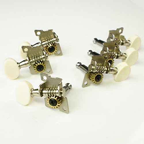 3L/3R Vintage Classic Style Guitar Tuning Keys Tuners Head Pegs Set ,Nickel