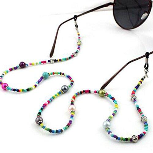 Imixlot Colorful Beaded Glasses Sunglasses Anti-Skidding Neck Chain Decorated