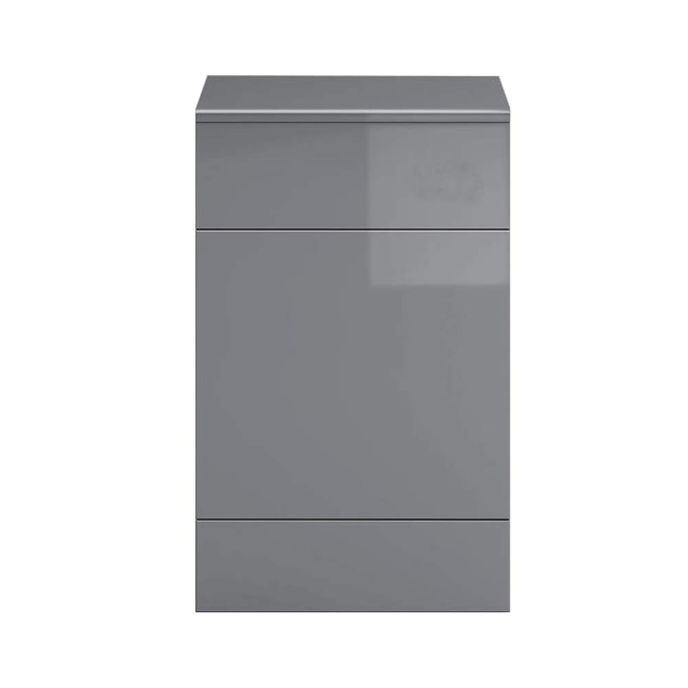 NRG Concealed Cistern BTW Toilet Housing Unit Bathroom Furniture Gloss Grey 502 x 325 mm