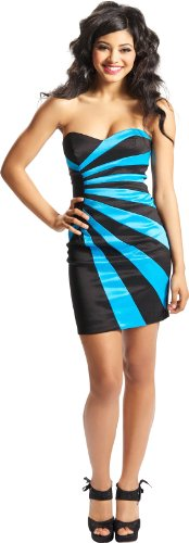 Strapless Sunburst Bandage Mini Tube Dress Prom Party Formal Gown