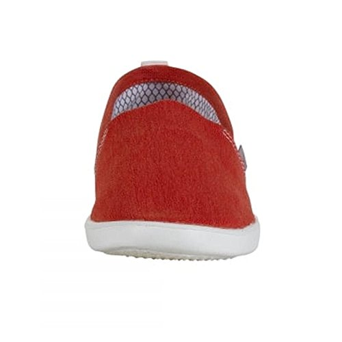 Dude Shoes Womens Capri Red Stretch Slip On Red
