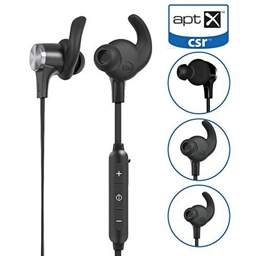 Aptx Bluetooth Headphones, Mini In Ear Bluetooth 4.1 AptX Stereo Magnetic Wireless Earbuds Snug Fit for Sports with Built in Mic BT-519 earphone(7 Hours Playtime, cVc 6.0 Noise Cancelling Microphone)